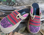Vegan Womens Shoes in Tribal Naga Slip On Slides Clogs - Sydney