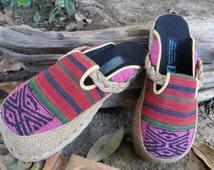 Vegan Womens Shoes in Tribal Naga Slip On Slides Clogs - Sydney