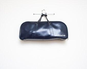 Adidas Navy Blue Vinyl Racket Bag