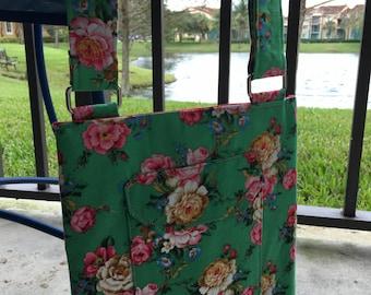 Crossbody Adjustable Purse - Bright Floral