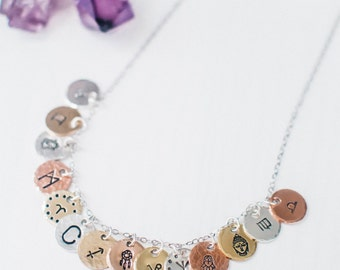 Add a custom charm to your necklace. Charm add on. Personalized charm. Customizable yoga, rune, zodiac or initial charm. Gift for her