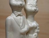 Bunny Couple Wedding Cake Topper