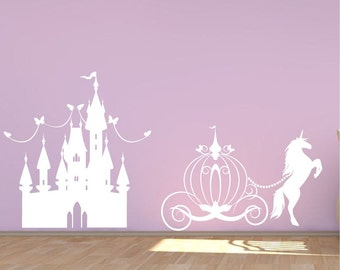 Princess Castle Wall Decal Girls Fairytale Bedroom Vinyl Decor Diy Part 40