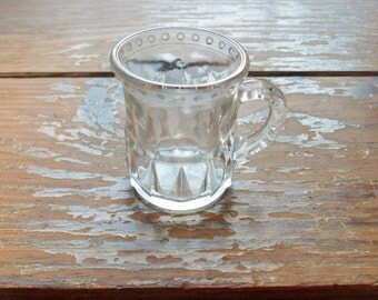 Beer Stein Shot Glass, Shot Glass with a Handle, Shot Glass with Raised Dots