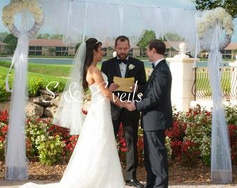 2-Tier FINGERTIP Veil, bridal veil, wedding veil, accessories, ivory, white, champagne, blush, light ivory color, classic veil