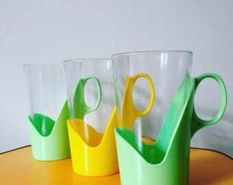 Retro Plastic and Glass Tumblers
