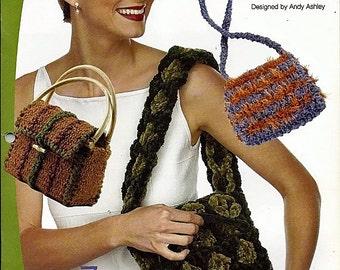 Terrific Totes Crochet n Weave pattern book Annies Attic