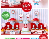 Sport Baseball Baby Shower Package Personalized FULL Collection Set - PRINTABLE DIY - BS804CA1x