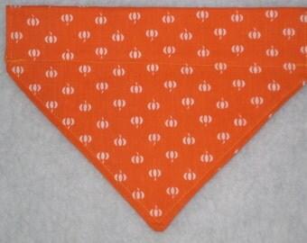 HALLOWEEN Dog Bandana -  Pumpkin Bandana - Over the Collar Bandana - Pet Accessory - READY to SHIP