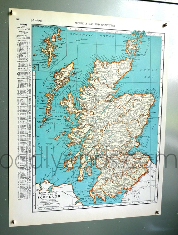 1939 Scotland Atlas Map