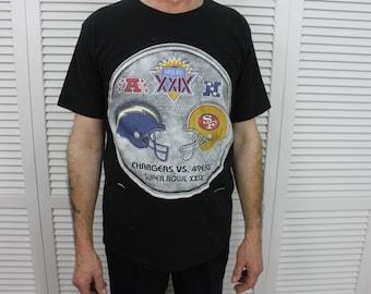 Vintage Chargers Vs 49ers Super Bowl XXIX