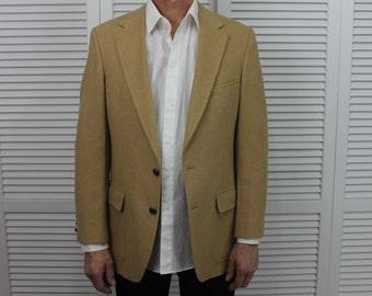 Vintage Camel Hair Men's Blazer Jacket