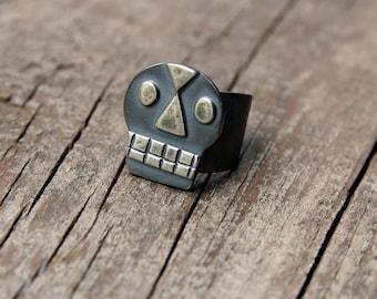 Silver Calavera ring #1