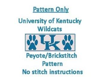University of Kentucky Wildcats Peyote Pattern - Instant Download