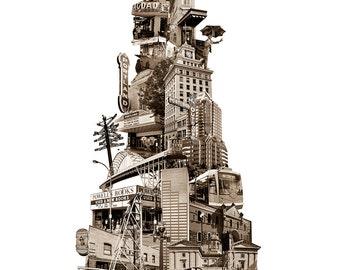 Tower of Portland - Art Print of Portland, Oregon - 8.5x11 and 11x14