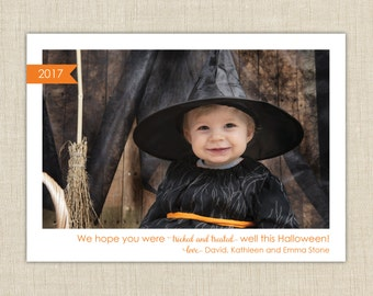 Halloween Photo Card. trick or treat