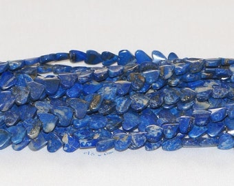 "Lapis Lazuli 9-9.5mm Heart Gemstone Beads -15.75"" Strand"