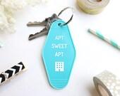 Apt Sweet Apt Turquoise Key Tag