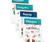 CHRISTMAS Pack - 4 Paper Toys Kits with FREE SHIPPING