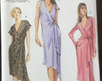 Vogue 7898 dress stretch knits only size 12-14-16 bust 34-36-38