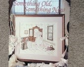 Something Old Something New Counted Cross Stitch Pattern by Paula Vaughan, Victorian Wedding Dress