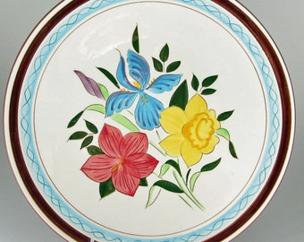 Stangl Pottery Country Garden Dinner Plate Prototype Color Test Sample Plate Kay Hackett 1955