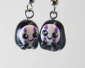 Spirited Away inspired cute No Face earrings kawaii Studio Ghibli