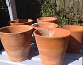 Vintage terracotta pot, flower pot, succulent planter, clay pot