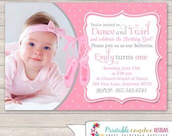 Ballerina Birthday Invitation - Tutu Invitation - Ballerina Birthday - Tutu Birthday - Ballet Invitation - DIY Custom Printable