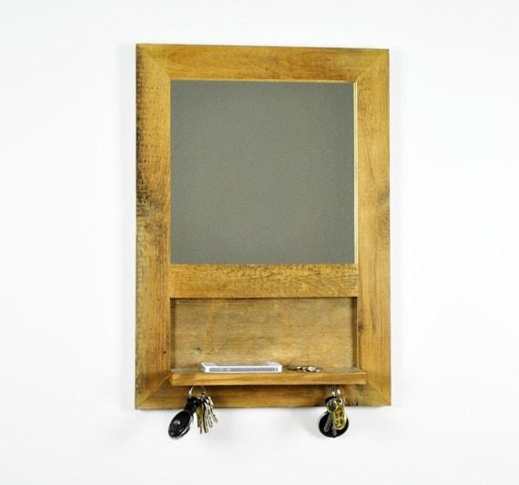 Rustic Foyer Mirror : Reclaimed wood entryway mirror shelf barn rustic