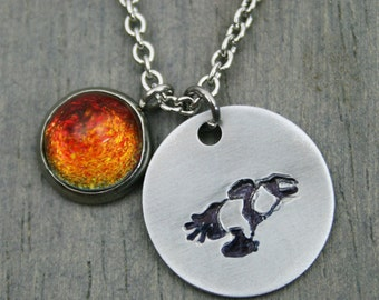 Firefly Serenity Inspired - Handmade Stainless Steel/Pewter Necklace with Misha Handpainted Stone