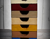 Primitive Wooden Napkin Box--9 Color Choices