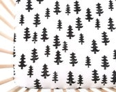 Crib Sheet Black Forest. Fitted Crib Sheet. Baby Bedding. Crib Bedding. Minky Crib Sheet. Crib Sheets. Woodland Crib Sheet.