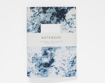 THE ERICA notebook A5 / abstract notebook / blue journal / blank book / sketchbook