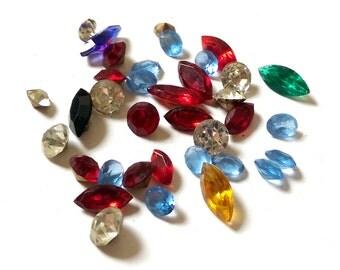 Vintage glass Diamante Rhinestones