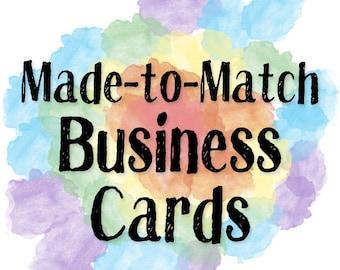 Business Card Design - Made to Match Existing Design