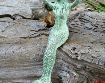 Nice Mermaid Statue   Cast Iron Statue, Mermaid Nursery Decor, Mermaid Figurine, Mermaid  Garden