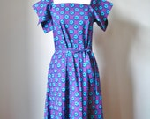 Cotton Maxi Dress / Vtg 7...