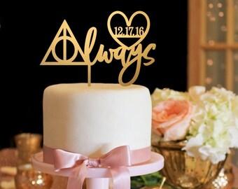 Harry Potter Wedding Cake Topper Always Wedding Cake Topper Custom Wedding Cake Topper