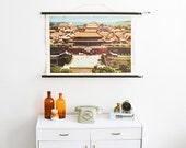 China print, China poster, forbidden city, Chinese print, China school poster, pull down chart Ref: 89