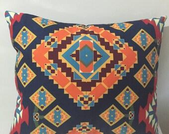 Navajo Pillow Case, Aztec Pillow Cover , Kilim Printed Pillow ,Tribal Pillow Case , Chevron Pillow Case, Red Pillow Case, Two Sided Pillow