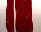Vintage late 1920s/early 30s Mens Moroon Tootal Necktie - damaged