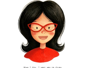 Linda Belcher from Bob's Burgers - open edition art print