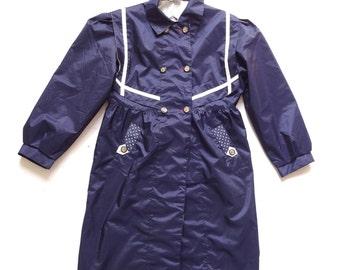 Women's Vintage 80's Raincoat / Jacket UK Size 10