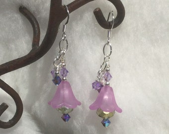 Pretty in Pink Flower Earrings
