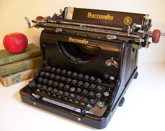 Vintage Burroughs Typewriter.Desk Top Typewriter.Vintage Manual Typewriter.Vintage Decorative Typewriter.Vintage Office Decor.Photo Prop.