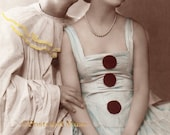 Art Deco Pierrot & Colombine - New 4x6 Photo Print - CP011