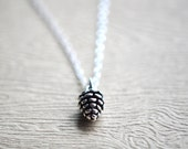 Pinecone Necklace, Pinecone Jewelry, Pinecone Pendant, Nature Pendant, Sterling Silver Pinecone necklace, Woodland Necklace, Nature Jewelry