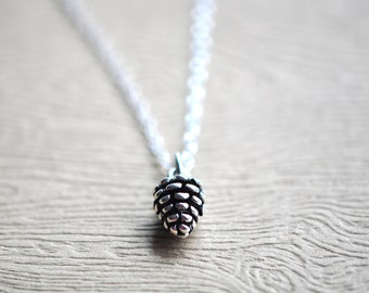 Pinecone Necklace - Pinecone Jewelry - Pinecone Pendant - Nature Pendant - Sterling Silver Pinecone necklace - Gift For Women