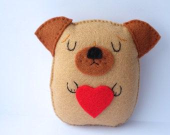 Dreaming pug plush doll